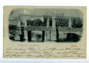 152021 Germany BERLIN Schlossbrucke Castle Bridge & Museum OLD