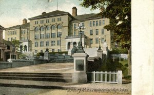 MA - Fitchburg. Wallace Way High School.  RPO- Boston Troy & Albany RR?