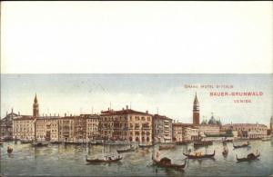 Venise Venezia Venice Grand Hotel D'Italie c1910 Promo Adv Postcard EXC COND