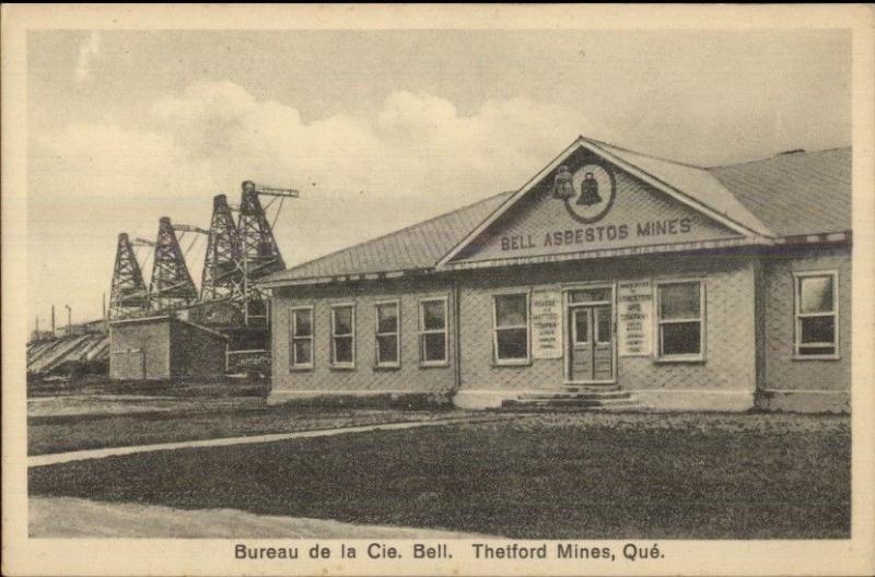 Thetford mines quebec bureau de la cie bell postcard hippostcard