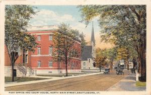 Brattleboro Vermont~North Main Street~Post Office~Windham County Court House~Pc