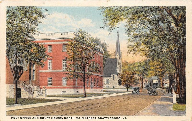 Brattleboro Vermont~North Main Street~Post Office~Windham County Court House~Pc