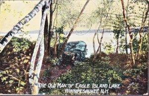 EAGLE ISLAND LAKE - THE OLD MAN OF EAGLE ISLAND ... View shows landmark - 1907