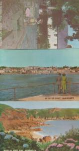 St Peter Port Moulin Huet Wishing Well Bay 3x Vintage Guernsey Postcard s