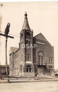 Ohio Postcard Real Photo RPPC YELLOW SPRINGS 1910 OPERA HOUSE Building