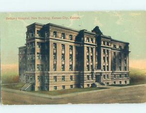 Divided-Back HOSPITAL SCENE Kansas City Kansas KS d5918