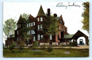Postcard NH Manchester 1908 View Eliot Hospital H09
