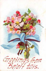 Beloit Wisconsin~Pink Cherry Blossom Bouquet Greetings~Gladys Graves~1907 PC