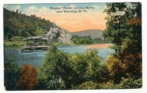 Steamer  ROYAL , Ohio River, Wheeling, West Virginia, PU-1911
