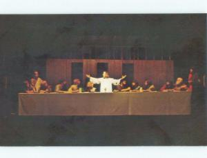 Pre-1980 JESUS AT LAST SUPPER IN PASSION PLAY Eureka Springs by Rogers AR E7597