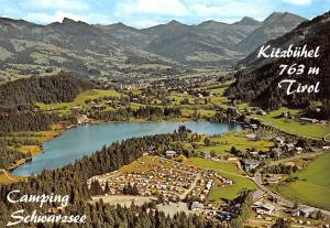 Kitzbuehel Tirol Camping Schwarzsee Lake Aerial view Panorama