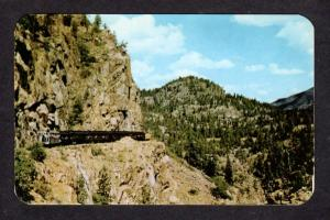CO Narrow Gauge Railroad Train Animas Canon Durango Silverton Colorado Postcard