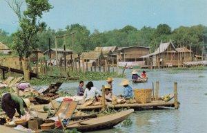 BANGKOK , Thailand , 1960s ; Miniature Floating Market