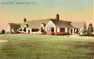 Southern Pines, North Carolina - A view of the Country Club - Handcolored