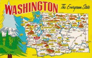 Map Of Washington 1968