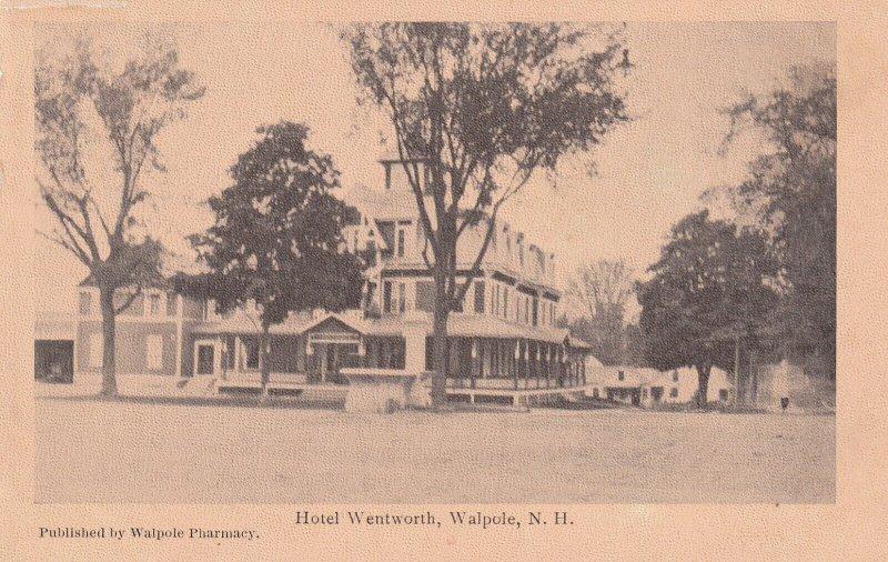 WALPOLE, New Hampshire, 1900-1910's; Hotel Wentworth
