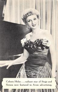 Celeste Holm~Movie & Stage Actress at Piano~Advertising For Avon~1950 Postcard