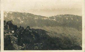 Upper Topa Murree Pakistan Himalaya mountain in distance real photo postcard