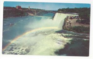 NY Niagara Falls Rainbow in the Mist Vtg New York Postcard