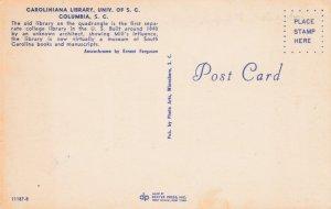 COLUMBIA , South Carolina, 50-60s ; USC's Caroliniana Library