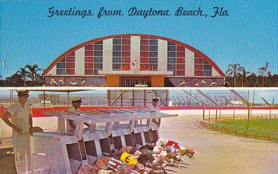 Daytona Dog Track >> Florida Greetings From Daytona Beach Jai Alai Fronton And