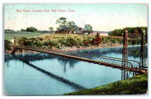 1909 New Haven Country Club, New Haven, CT Postcard