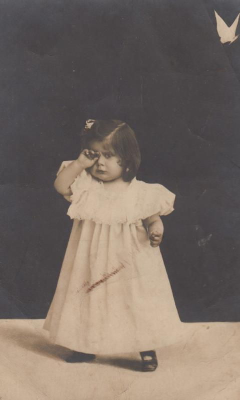 RP: Girl crying , 1908