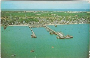 1973 Aerial View of Provincetown Cape Cod, Mass