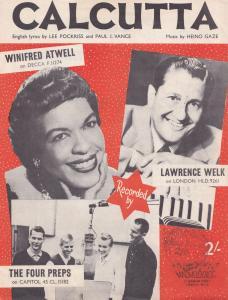 Calcutta Winifred Atwell 1950s Sheet Music