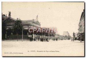 Old Postcard Brasserie Lyon Brasserie du Parc and during Vitton