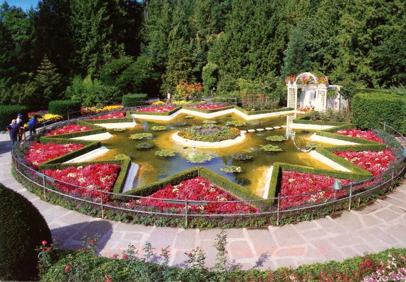 Canada - British Columbia, Victoria. The Butchart Gardens, Star Pond