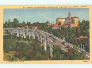 Linen BRIDGE SCENE Pasadena - Los Angeles California CA W5495