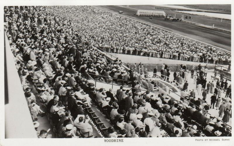RP: TORONTO, Ontario , 1930s ; New Woodbine Horse Race Track Stands