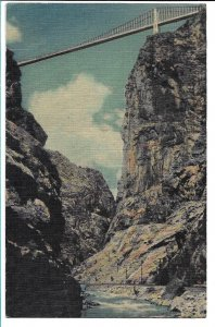 Canon City, CO - From the Bottom of the Royal Gorge - 1953