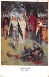 Opera Lohengrin by Richard Wagner Signed, Illustration, Postcard 1914