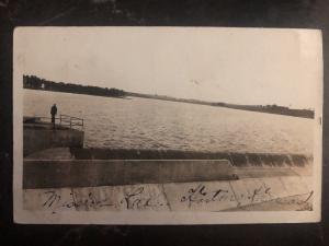 Mint USA RPPC Postcard Mission Lake Spillway Norton KS