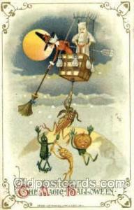 Artist Samual Schmucker Halloween Postcard Postcards  Scarce