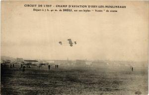 CPA ISSY-les-MOULINEAUX Circuit de l'Est BRÉGI, biplan Voisin (860720)