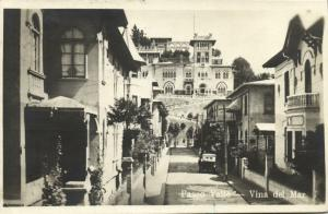 chile, VINA DEL MAR, Paseo Valle (1923) RPPC Stamps