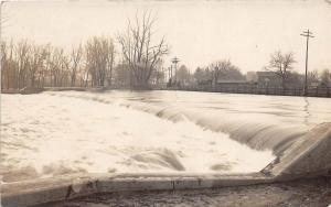 D84/ Three Rivers Michigan Mi Real Photo RPPC Postcard 1906 Homes River Dam