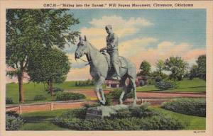 Riding Into The Sunset Will Rogers Monument Claremore Oklahoma