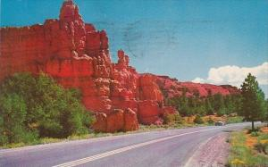 Highway In Red Canyon Approach To Bryce Canyon Utah 1970