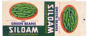 Siloam Spring Green Beans Allen Canning AR Vintage Can Label