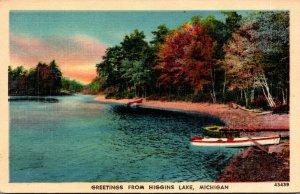 Michigan Greetings From Higgins lake