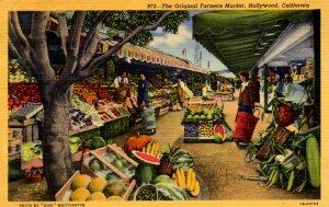 Hollywood, California - The Original Farmers Market - in 1952
