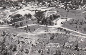 South Dakota Rapid City Dinosaur Park Aerial View Real Photo
