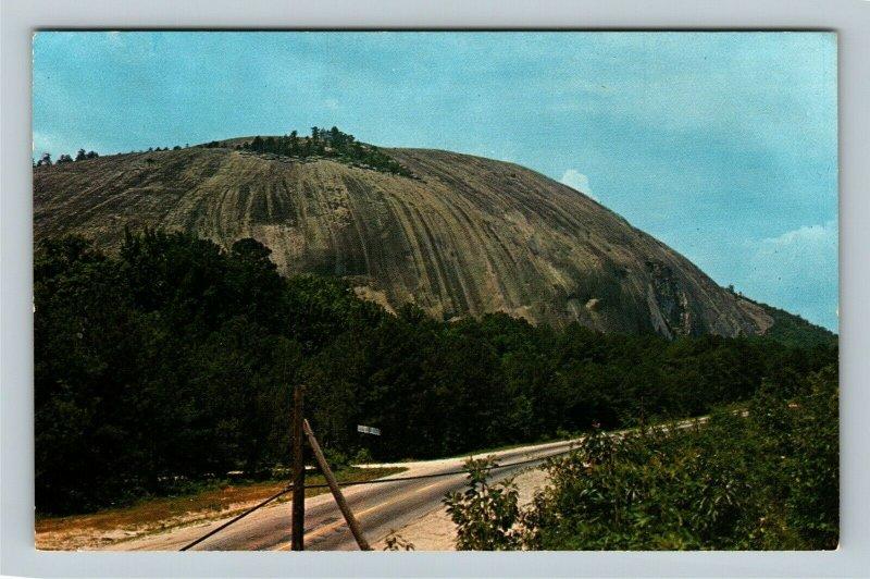 Stone Mt GA- Georgia, Stone Mountain, Natural Monolith, Vintage Chrome Postcard