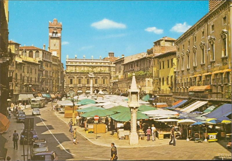 Verona Piazza Erbe Vegetable market Gemuse markt
