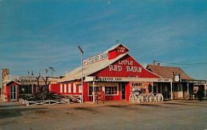 ABILENE, TX Texas  CASEY'S LITTLE RED BARN Coffee & Gift Shop ROADSIDE Postcard