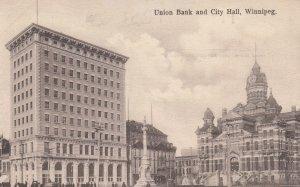 WINNIPEG , Manitoba , Canada , 1900-10s ; Union Bank & City Hall